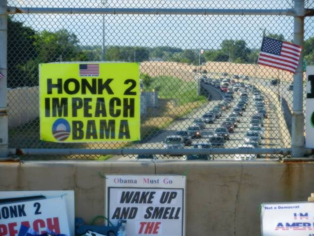 Overpasses For Obama's Impeachment: Are you ready for The Patriot Wave?